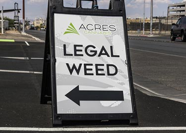 Legal weed sign