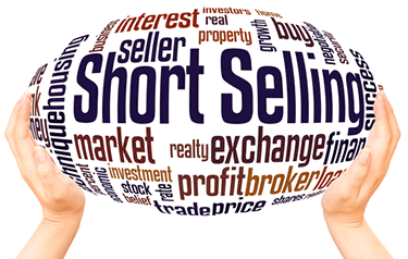 Short selling written on a balloon