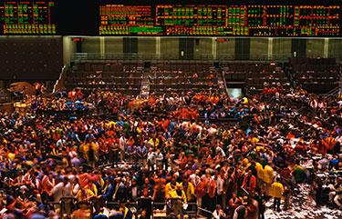Stock exchange floor